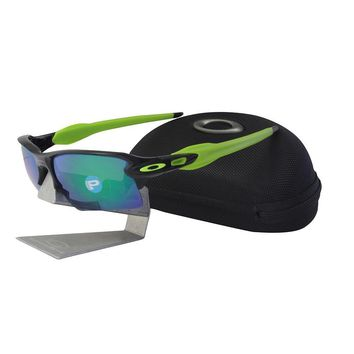 Oakley OO 9188-09 POLARIZED FLAK 2.0 XL Black Ink Jade Iridium Mens Sunglasses