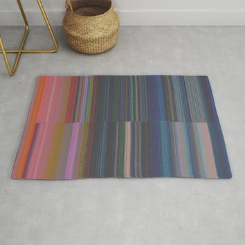 scanner stripes Rug by duckyb