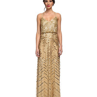 Adrianna Papell Beaded Blouson Gown Gold - Zappos.com Free Shipping BOTH Ways