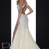 Panoply 14606 Champagne Halter Dress