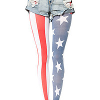 The Stars and Stripes Tights