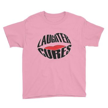 Youth Short Sleeve T-Shirt Laughter Cures Design Fashion 2018