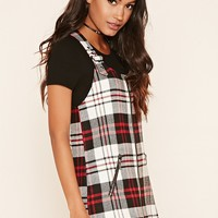 Twill Tartan Overall Dress