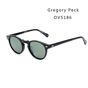 Vintage Polarized Lense sunglasses oliver Gregory Peck  Brand Designer men women Sunglass OV5186 retro Sun glasses gafas oculos