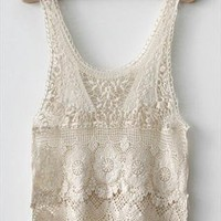Crocheted Lace Top from Bblythe