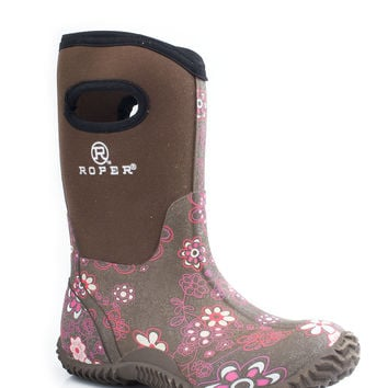 Roper Kids Boot Western Rubber Syn Barn Boot Boots 10 Barn Boot W Pull Hole On Shaft