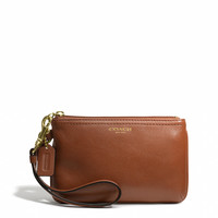 legacy small wristlet in leather
