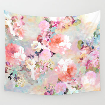 Love of a Flower Wall Tapestry by Girly Trend