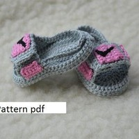 CROCHET PATTERN -Nike Air Jordan 3 sandals hydro 3 Crochet Baby Booties pattern