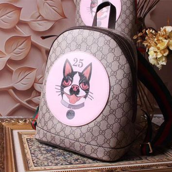 Gucci Women's Leather Embroidery Backpack Bag #31841 - Best Deal Online
