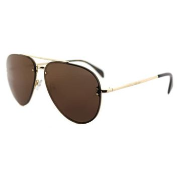Celine CL 41391 Mirror J5G_LC Gold Metal Aviator Sunglasses Violet Lens | Overstock.com Shopping - The Best Deals on Fashion Sunglasses