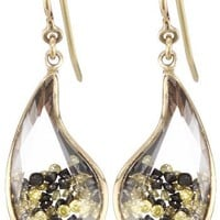 "Moritz Glik ""Kaleidoscope"" 18k Gold with Floating Colored Diamond Earrings"