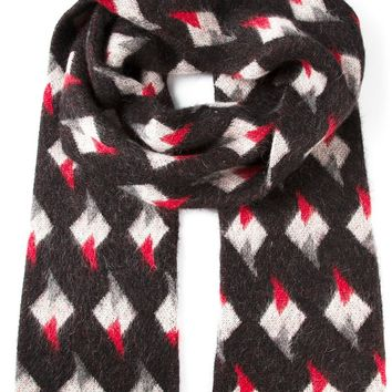 Saint Laurent patterned knit scarf
