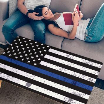 Thin Blue Line Handcrafted Wood Coffee Table
