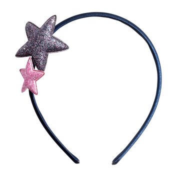 H&M - Headband with Stars - Dark blue - Kids