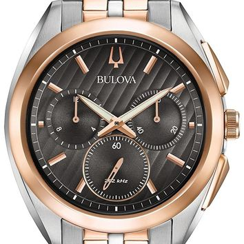 Bulova Two-Tone Stainess Steel Chronograph Watch 98A160