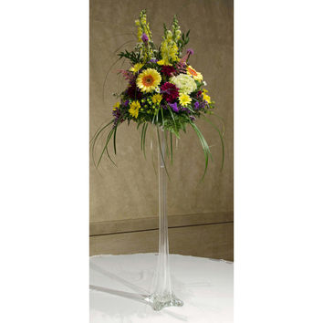 Tall Eiffel Tower Glass Vase Centerpiece