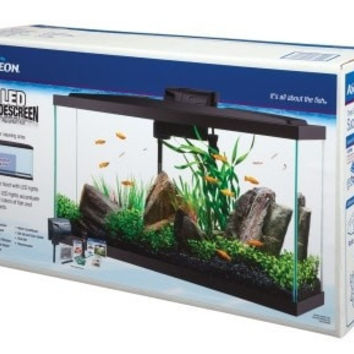 AQUATICS - KITS: STARTER/BOXED - AQUEON KIT LED AQUARIUM 16 - WIDESCREEN NEW MAR 2015 - CENTRAL - ALL GLASS - UPC: 15905177924 - DEPT: AQUATIC PRODUCTS