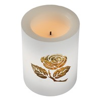 Golden Rose Flameless Candle