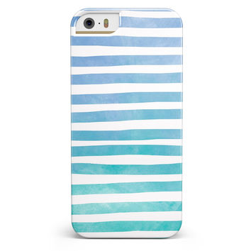 Ocean WaterColor Ombre Stripes iPhone 5/5s or SE INK-Fuzed Case