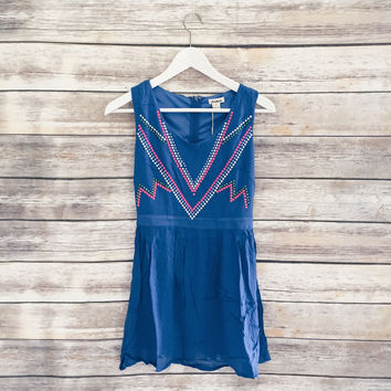Arianna Studded Dress (Colbalt Blue)