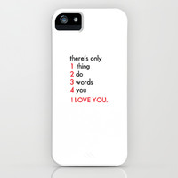 Three words I love you iPhone & iPod Case by Deadly Designer