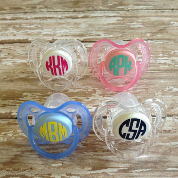 Monogram Pacifier Decal {Circle Font}