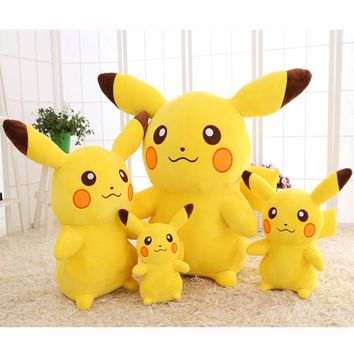 Kawaii Stuffed Anime Pikachu Plush Toy Pillow Pokemon Plush Doll for Girls Children Birthday Gift