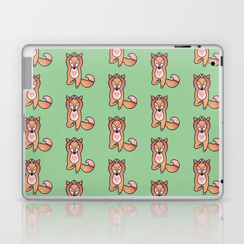 Yoga lover Fox Laptop & iPad Skin by MIKART