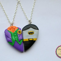 The Joker and Batman Friendship Necklaces, Keyrings, and Magnets