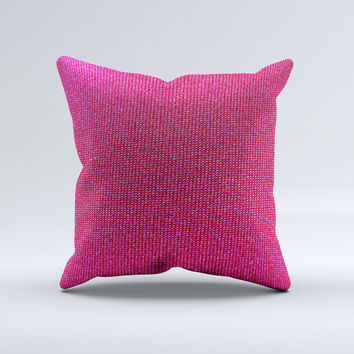 Pink Fabric Ink-Fuzed Decorative Throw Pillow
