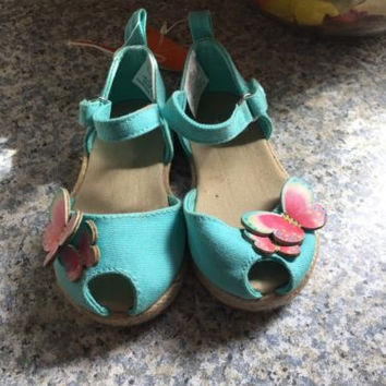 Gymboree Blue Sandals, Butterfly Blue NWT Size 4