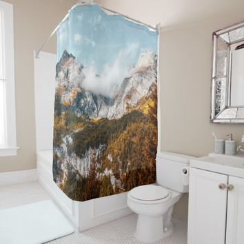 Alaska Wild Yukon River Mountain Nature Shower Curtain