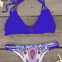 Cupshe Wind And Sea Halter Bikini Set