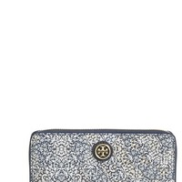Women's Tory Burch 'Kerrington' Continental Wallet - White