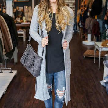 Winter Wonderland Cardigan - Heather Grey