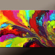 Abstract Canvas Art Prints 30x20 Contemporary Art Giclee Print on Wrapped Canvas by Destiny Womack  - Beautiful Daydreams -  dWo