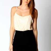 Kate Sequin Top Strappy 2 in 1 Bodycon Dress