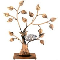 Jewelry Tree Bird Nest Table Top Décor 48 pair Earrings Holder / Bracelets Necklace Organizer Stand Display Tower
