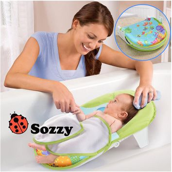 1pcs Sozzy Baby Toys Bath Sling With Warming Wings Foldable Bath Net Bath Towels With A Bath Chair