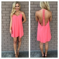 Rose Darla Oversize T-Back Dress