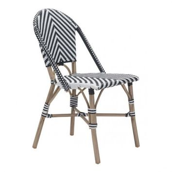 Zuo Modern Black & White PARIS 703805 dining chair