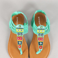 Aztec Sandals- Seafoam Green