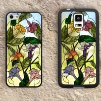 Flowers iPhone Case-Green iPhone 5/5S Case,iPhone 4/4S Case,iPhone 5c Cases,Iphone 6 case,iPhone 6 plus cases,Samsung Galaxy S3/S4/S5-160