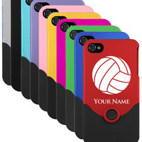 iPhone 4/4s Case/Cover Volleyball, Ball  Laser Engraved
