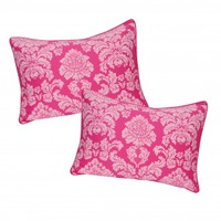 Wake Up Frankie - Damsel in Damask King Sham Set : Teen Bedding, Pink Bedding, Dorm Bedding, Teen Comforters