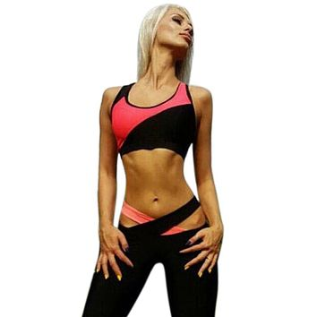 Bohemian  Women Sleeveless Sports Yoga Workout Gym Fitness Leggings Pants Jumpsuit Athletic Clothes #GH