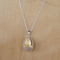 Silver Egg With Golden Heart