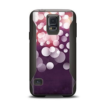 The Dark Purple with Glistening Unfocused Light Samsung Galaxy S5 Otterbox Commuter Case Skin Set