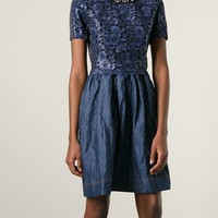 Antonio Marras Embellished Collar Macrame Dress - Liska - Farfetch.com